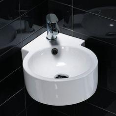 Waschbecken rund gäste wc  waschbecken rund toilette badezimmer fliesen | Gästetoilette ...