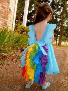 sew chibi: Behind the Seams: Rainbow Dash Dress Edition