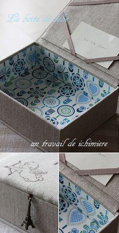 リネンの布箱の画像:ichimière手づくりの時間