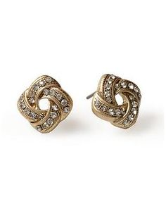 Knot Stud Earring  by Tinley Road  $14.00