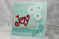 """Joy"" Card Creative Impressions Felt Shape"