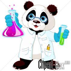 CLIPART PANDA SCIENTIST