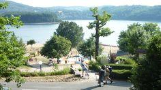 """A lazy day at the Lake Laouzas. De 4 meren """"plateaus des quatre lacs""""   Camping Domaine LaCanal  """