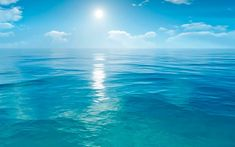 Blue the ocean horizon the sky the sun the air water element Image Summer, The Ocean, Pacific Ocean, Live Backgrounds, Ocean Horizon, Ocean Wallpaper, Bright Wallpaper, Wallpaper Awesome, Travel Wallpaper