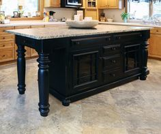 You pick the size, base style, legs, top, drawers, cabinets, pull-outs, mixer lift, drop leaf. Oh - and color!