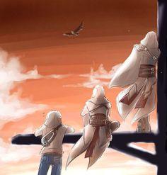 Assassins on synchronization point Desmond Miles, Altaïr Ibn-La'Ahad, Ezio… Assassins Creed Quotes, Assassins Creed Rogue, Asesins Creed, Connor Kenway, Nerd, Cultura Pop, Skyrim, Videogames, Gaming