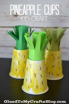 Nutrition 358739926548051466 - Pineapple Cups – Kid Craft Source by TheOTToolbox Daycare Crafts, Toddler Crafts, Preschool Crafts, Crafts For Kids, Preschool Education, Fruit Crafts, Cup Crafts, Food Crafts, Fruit And Veg
