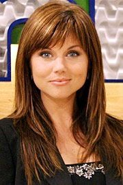 Tiffani Thiessen working the bangs and layers