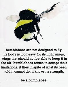 bumblebee quote - Google Search