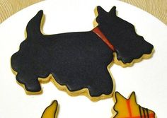Scotty Dog Cookies  1 Dozen by baked on Etsy