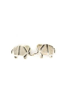 Origami Elephant Earrings on Emma Stine Limited $24.    Cute earrings.  Great idea.