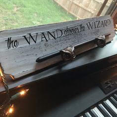 Wand holder / display by aDOSEofFANDOM on Etsy https://www.etsy.com/listing/475081359/wand-holder-display