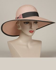 9419JOPA Josephine, blush with grey – Louise Green Millinery