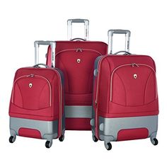 Olympia Majestic 3 Piece Expandable Spinner Set, Red, One Size