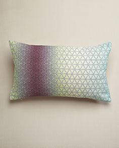 Design Trends 2013: Ombre - NAFurniture.com - Multi Ombre Geo Cushion - Nitin Goyal