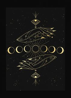 moon The new moon represents the start of a new lunar cycleand occurs approximately every 29 days. When there is a new moon, the Earth, Moon, and the Sun are positioned in a line.The moon is so Ying Yang, Tattoo Geometrique, Witch Aesthetic, Aesthetic Black, Aesthetic Art, Moon Magic, Moon Art, Moon Moon, The Moon