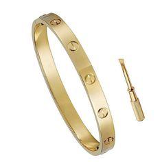 Love Bracelet Bangle Nail Rose Gold Yellow Gold Plated Gun