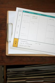 Printable editorial calendar for bloggers