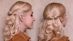 Quick and easy everyday hairstyle for school