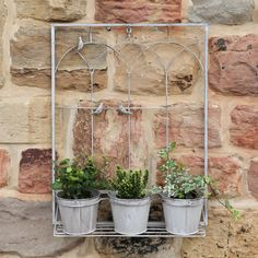 Are You Interested In Our Gifts For Gardeners Chalk Grey Wall Planter? With  Our Set Of 3 Wall Hanging Flower Pot Planters You Need Look No Further.