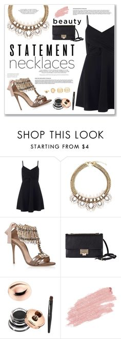 """""""Statement Necklaces"""" by nicegirl98 ❤ liked on Polyvore featuring Miss Selfridge, Casadei, Jimmy Choo, Jane Iredale, LULUS and statementnecklaces"""