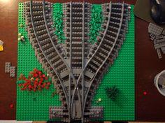 3 way Lego Train switch ballasted