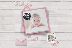 We present beautiful and Creative photo album, that you can keep the keepsake of your child! 20 pages of elegant templates for a keepsake baby photo album Polaroid Photo Album, Polaroid Photos, Find Fonts, Photoshop Me, Color Profile, Creative Photos, Color Swatches, Baby Design, Textured Background
