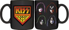 Kiss Merchandise, State Foods, Kiss Band, Hot Band, Coffee Cups, Original Artwork, Great Gifts, Army, Mugs