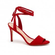 Elyse red-suede ankle-tie open-toe high-heeled sandal