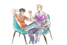 """That's rough, buddy., minuiko: suchastart: octopiinajar: i saw...haha except I'm pretty sure they wouldn't even be embarrassed, they'd just hold hands with intertwined fingers, and Percy would kick his feet up onto Jason's lap, and Jason would put his free hand on Percy's ankle, and somebody would take a picture of them grinning at one another and it'd be put in this ridiculously gaudy, glittery frame and hung up in Chiron's office for everybody to look at forever"""""""