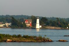 Rock Island Lighthouse NY St. Lawrence River  ...photo by Geraldine Clark