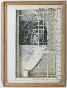 Central Park Carrousel, in Memoriam  Joseph Cornell (American, 1903–1972)    1950. Wood, mirror, wire netting, and paper