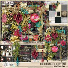 On Chalkboard: Christmas Collection by Palvinka Designs   Digital Scrapbook @ at The Digichick