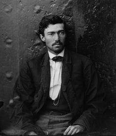 Samuel Arnold, convicted in a (failed) plot to kidnap Lincoln and hold him in an exchange for Confederate prisoners, photographed here in the same roundup as Lewis Powell.  While Powell was executed with the other conspirators, Arnold was sentenced to life in prison but was pardoned by Andrew Johnson four years later.