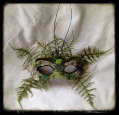 Green Man Halloween SCA Fair Nature Spirit Mask by CedarfoxStudios, $72.00