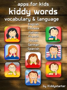 KIDDY WORDS: LANGUAGES COLLECTION includes 8 apps that help children start to learn top world languages. Good practice to build familiarity with the language through fun memory challenge. #kiddystarter #apps #kids