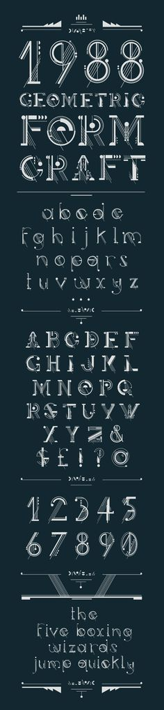 Ideas Tattoo Fonts Letters Alphabet Behance For 2020 Typography Alphabet, Typography Fonts, Types Of Lettering, Lettering Design, Typographie Inspiration, Font Art, Art Deco Font, Word Design, Texts
