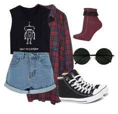 """9:06"" by insan3dr3amzz ❤ liked on Polyvore featuring Monki, Boohoo, Topshop and Converse"