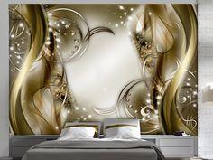 Cinnamon Trinkets x Wallpaper East Urban Home 3d Wall Decor, 3d Wall Murals, Wall Decorations, 3d Wallpaper Mural, Photo Wallpaper, Interior Walls, Home Interior Design, Ceiling Design, Wall Design