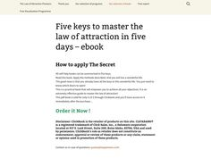 ① Five Keys To Master The Law Of Attraction In Five Days - http://www.vnulab.be/lab-review/%e2%91%a0-five-keys-to-master-the-law-of-attraction-in-five-days