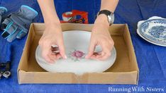 Learn to cut china for mosaics. We'll show you how to turn thrift store china into mosaic tiles using wheel cutters and tile nippers.