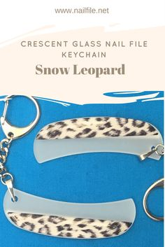 2c580645977a Crescent Glass Keychain File by Top Notch Nail Files  12.00 Different  designs available click