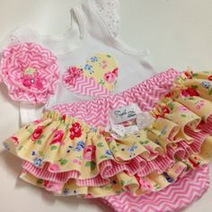 Ruffled Nappy Cover   Ruffles   Baby Girl   Lace Bow   RNC   Matching Singlet and Headband   Triple L Designs