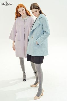 Primrose Coat (Pale Blue) - Miss Patina - Vintage Inspired Fashion