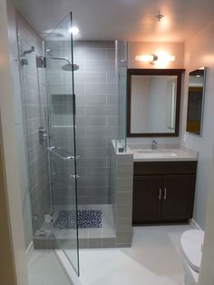The plan of the modern bathroom was initiated in order to market hygiene and cut back plumbing expenses. The perfect color scheme for a contemporary bathroom ought to be a blend of neutrals and bol… Small Basement Bathroom, Bathroom Renos, Modern Bathroom Design, Bathroom Interior Design, Bathroom Renovations, Bathroom Cabinets, Modern Basement, Modern Stairs, Basement Ideas