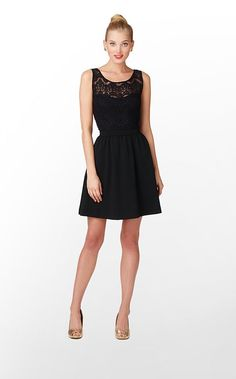 Rhea Dress in Black Rhea Placed Lace $198 (w/o 11/24/12) #lillypulitzer #fashion #style