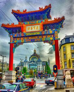 Antwerp central train station through the Chinese gate #thisisantwerp #antwerplovers #antwerpen #antwerpcity  #visitflanders #visitantwerp #stadantwerpen #gopro #goprooftheday #goprohero #goprouniverse #goprophotography #goproeverything #goprophoto #goprodaily #photooftheday #instadaily #photography #meditation #travelgram  #travelfriendly #wheretonext  #architecture #belgium #history #architecturelovers #architexture #traveling #traveler #travel