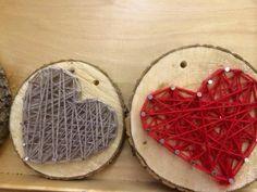 TN/TS Alkuopettajat FB -sivustosta / Heli Veijola Yarn Crafts, Wood Crafts, Diy Crafts, Valentine Gifts, Valentines Day, Crafts For Kids, Arts And Crafts, Spring Crafts, String Art