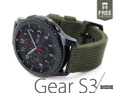 This PRIMRIA - nylon watchband is special designed for Samsung Galaxy Watch / Gear Frontier / Classic watches, giving a military look to your watch. Each band is made from a super heavy duty Samsung Gear 3, Samsung Gear S3 Frontier, Samsung Galaxy, Military Grade Watches, Gold Apple Watch, Watch Gears, Watch Bands, Smart Watch, Sport