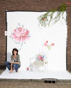 1000 images about cross stitch murals on pinterest for Cross stitch wall mural